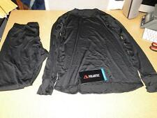 Polartec Level 1 Silkweight Set Shirt/Pants New MEDIUM REGULAR Black Base Layer