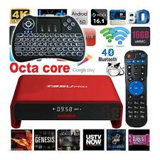 Fully Loaded T95U PRO Octa Core Wifi 1080p 4K Android TV Box+Backlit Keyboard
