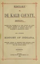 1885 DEKALB County Indiana IN, History and Genealogy Ancestry Family DVD B36
