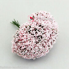 "144 Pink ""Baby's Breath"" Flower Embellishment Cardmaking Scrapbooking Craft"