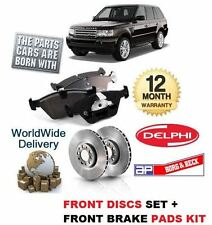 FOR RANGE ROVER SPORT 3.6TD V8 2006-2011 FRONT BRAKE DISCS SET +  BRAKE PAD KIT