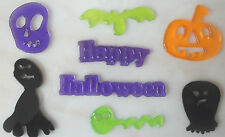 8 HALLOWEEN GEL WINDOW STICKERS - DECORATIONS FOR GLASS & MIRRORS - BRAND NEW