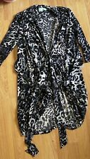 Almost Famous dress size 10 animal print black white three quarter length sleeve