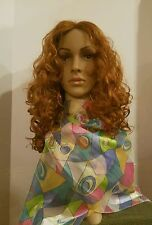 """24"""" Heat Resistant Wig Cosplay Wig Synthetic Hair Loose Curly Light Auburn #30"""