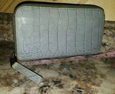 Marc by MARC JACOBS Zip~Around CROC EMBOSSED Leather Long Wallet Clutch