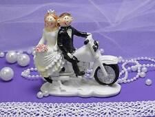 Tortenfigur Figur Tortendeko Biker Brautpaar Motorrad Hochzeit Hochzeitspaar