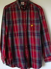 Disney Shirt Small Plaid Flannel Winnie The Pooh Button Down Red Green Yellow S