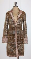 BIYA TWO TEN TEN FIVE FLORAL STUDDED EMBROIDERED VELVET COAT SIZE XS