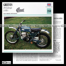 #056.19 GREEVES 250 CHALLENGER 24 MX 6 1968 Fiche Moto Motorcycle Card
