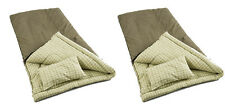 (2) Coleman Camping Big Game 0-5°F Big & Tall Sleeping Bags w/ Flannel Pillow