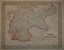 ORIGINAL 1871 MAP of PRUSSIA & the GERMAN STATES             1872/012315