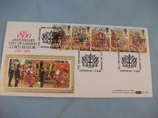 """lord maires show"" 1989 benham ide stamp housse, 5 x 20p timbres city of london h/s"