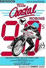 Speedway Programme SWINDON ROBINS v BELLE VUE Apr 1990