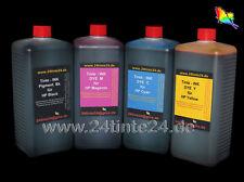 4 x 1 l litros tinta Ink para cartuchos CISS CFS cis HP 10 11 12 82 88 1l 56 28 27