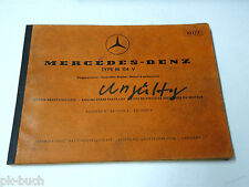 Teilekatalog Parts List Mercedes Benz Vergaser-Motor M 114 V / 8 W114 St.1970