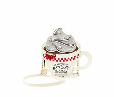 Betsey Johnson KITSCH BREWED AWAKENING Crossbody Bag BJ62030H Coffee Tea Cup Mug