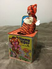 Vintage 1968 Mattel Timmy Tiger in the music box Jack In The Box Classic - As/Is