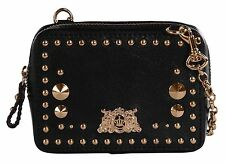 Juicy Couture Tough Girl Tech Studded Wristlet Clutch Wallet Black
