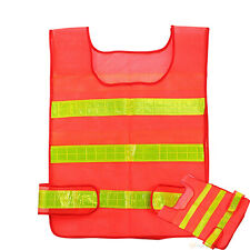 Hi Vis High Viz Visibility Vest Waistcoat Jacket Safety Security Reflective Coat