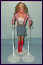 2 WHITE KAISER Doll Stands For Monster High BARBIE Fashion Royalty Momoko