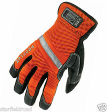 proflex hi-vis gauntlet trades gloves, reflective, safety, protection, SMALL