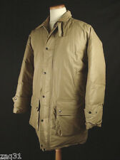 Vtg POLO by Ralph Lauren Oiled Waxed Cotton Puffer Down Field Jacket Coat sz M