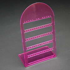PINK ACRYLIC 25 PAIR DROP STUD EARRING JEWELLERY JEWELRY DISPLAY STAND RACK