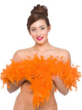1.7M Orange Marabou Feather Boa Fancy Dress Hen Night Party Burlesque Halloween