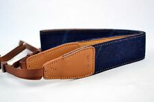 New! Blue Denim/Leather Universal Camera Shoulder Neck Strap DSLR SLR 7100