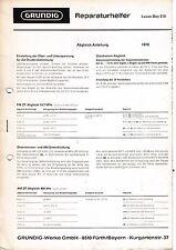 Service Manual-Anleitung für Grundig Luxus Boy 210