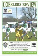 Programme - Bridgwater Town v Nailsea United - Somerset County Cup - 13/5/2010