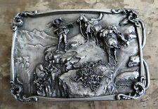 Charles M Russell Mountain Man Hunting Western Belt Buckle