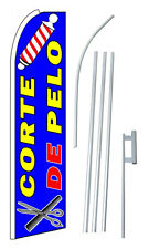 Corte De Pelo (Haircut) Extra Wide Swooper Flag Bundle