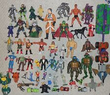 Huge Action Figure Car Toy 50 item Lot Transformers Spiderman He-man WWF