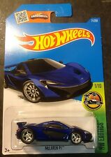 2016 Hot Wheels New E Case CUSTOM Super Treasure Hunt McLaren P1 w Real Riders