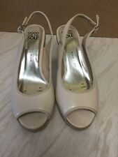 GOOD FOR THE SOLE, Debenhams Nude SLINGBACK Wedges / Shoes SZ 7 WIDER FIT