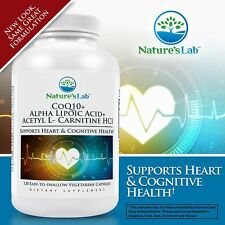 Nature's Lab™ CoQ10 + Alpha Lipoic Acid + Acetyl L-Carnitine HCl, 120 Vegetarian