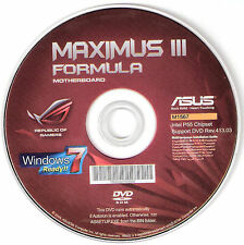ASUS MAXIMUS III FORMULA Motherboard Drivers Installation Disk M1567