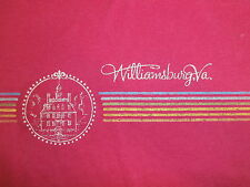 vtg 80s WILLIAMSBURGH VIRGINIA T SHIRT Pink Colonial Historic Governor's Palace