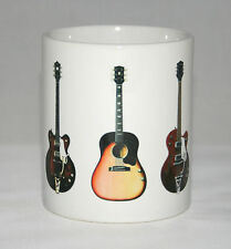 Guitar Mug. George Harrison. 5 Famous guitars. Gibson, Rickenbacker etc