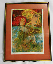 PAINTING  - LITHOGRAPH  by ALVAR- SIGNED WITH CERTIFICATE OF AUTHENTICITY