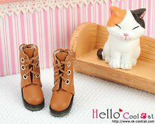☆╮Cool Cat╭☆【04-05】Blythe Pullip Doll Shoes Boots # Pale Brown