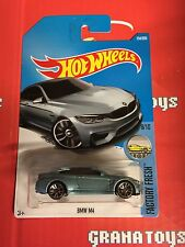 BMW M4 #154 Light Blue 2017 Hot Wheels Case G