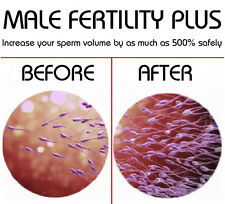 MALE FERTILITY PLUS Increase Sperm Count 6 Month Course FREE SHIPPING WORLDWIDE