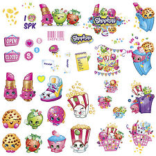 39 New SHOPKINS WALL DECALS Kids Toys Stickers Peel and Stick Removable Decor