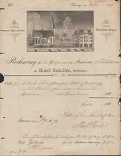 LEISNIG, Rechnung 1892, Bauschlosserei Karl Sander, Blitzableiter-Anlagen