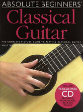 AM972598 ABSOLUTE BEGINNERS CLASSICAL NYLON GUITAR BOOK LEARN PLAY TUITION