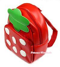 Hot Red White Dot Strawberry Little Backpack School Bag Satchel for Kid Girl Boy