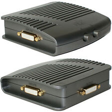 2 Puerto/forma DVI-I Interruptor Manual Caja Dual Link - 2 en 1 Hub Selector de video salida pc