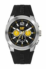 Mens Caterpillar T7 CAT AB14921137 Black Rubber Black Dial Day Date Sport Watch